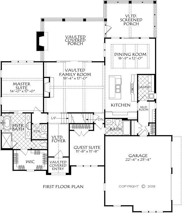 Farmhouse Floor Plan - Main Floor Plan #927-1001