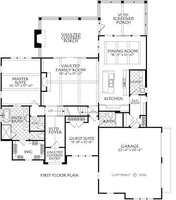 Farmhouse Floor Plan - Main Floor Plan Plan #927-1001