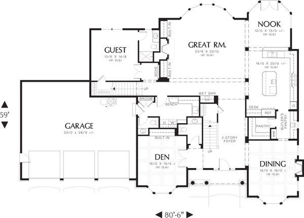 Traditional Floor Plan - Main Floor Plan Plan #48-621