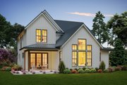 Contemporary Style House Plan - 3 Beds 2.5 Baths 2448 Sq/Ft Plan #48-987 Exterior - Rear Elevation