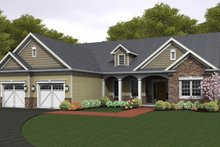 Ranch Exterior - Front Elevation Plan #1010-84