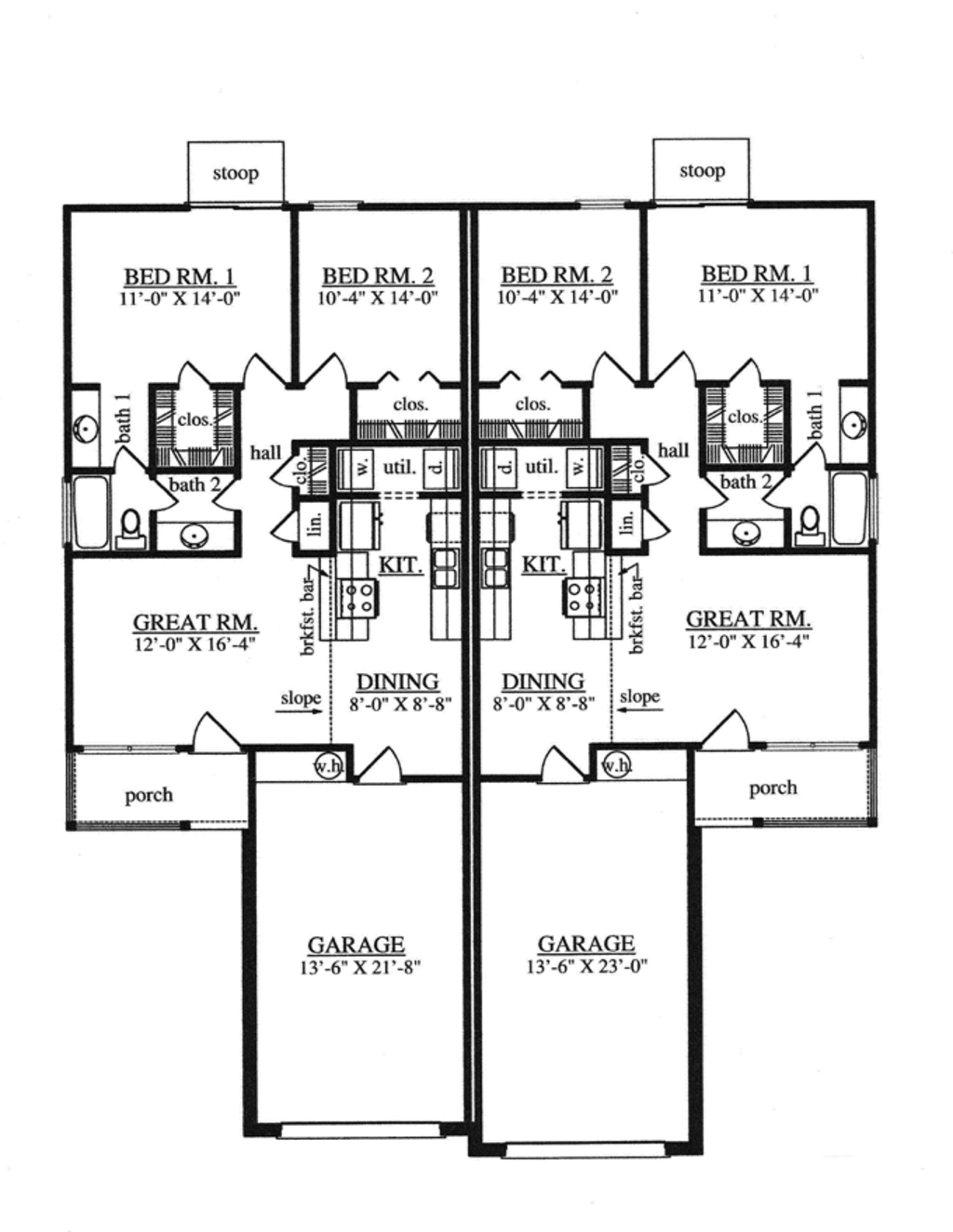 Traditional style house plan 4 beds 4 baths 1788 sq ft for Www homeplans com