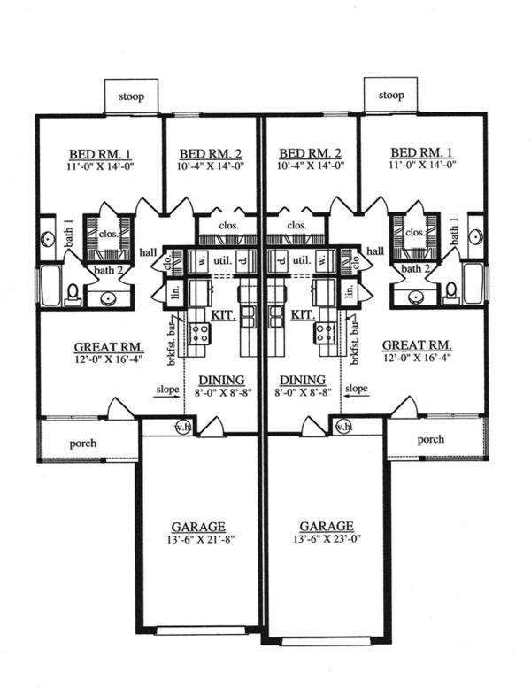 House Plan Design - Traditional Floor Plan - Main Floor Plan #42-727