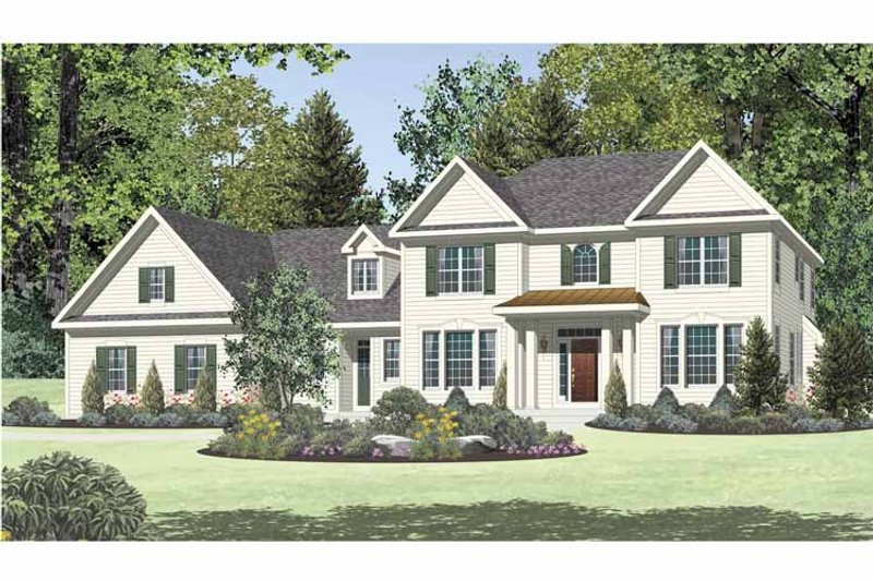 Traditional Exterior - Front Elevation Plan #328-462 - Houseplans.com