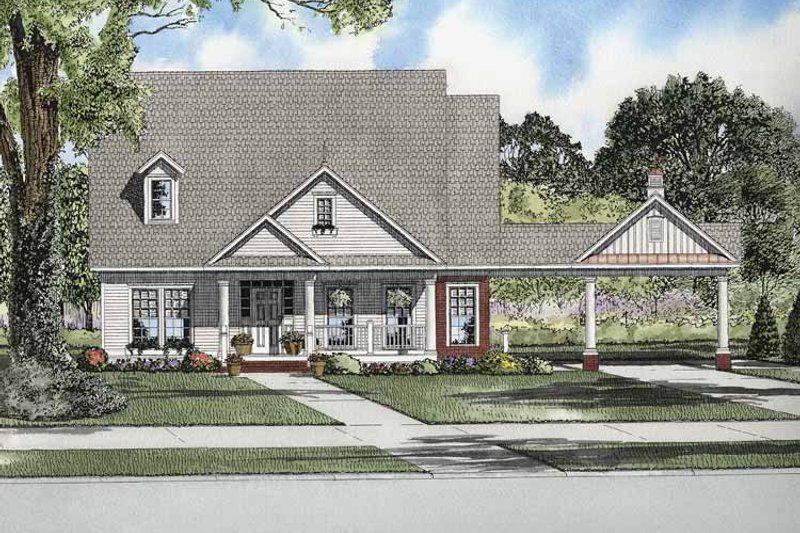 Craftsman Exterior - Front Elevation Plan #17-2864