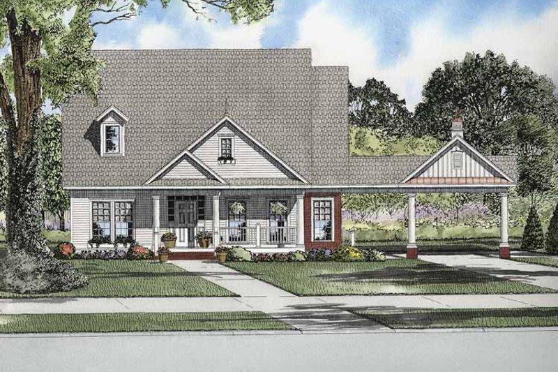 House Plan Design - Craftsman Exterior - Front Elevation Plan #17-2864