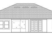 Mediterranean Style House Plan - 3 Beds 2.5 Baths 2468 Sq/Ft Plan #1058-125 Exterior - Rear Elevation
