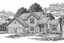 Dream House Plan - Traditional Exterior - Front Elevation Plan #70-238
