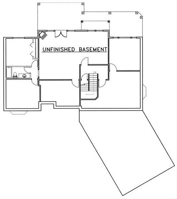 Country Floor Plan - Lower Floor Plan Plan #117-572