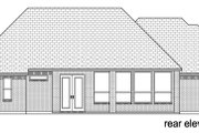 Traditional Style House Plan - 3 Beds 3.5 Baths 2486 Sq/Ft Plan #84-623 Exterior - Rear Elevation