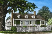 Country Style House Plan - 4 Beds 3 Baths 3939 Sq/Ft Plan #137-148 Exterior - Front Elevation