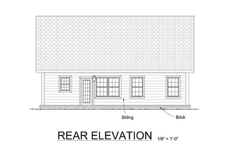 Traditional Exterior - Rear Elevation Plan #513-10 - Houseplans.com