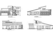 House Plan Design - B/W elevations