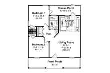 Cottage Floor Plan - Main Floor Plan Plan #21-211