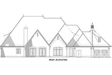 House Plan Design - European Exterior - Rear Elevation Plan #17-2507