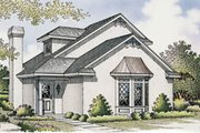 European Style House Plan - 2 Beds 2 Baths 1081 Sq/Ft Plan #45-102 Exterior - Front Elevation