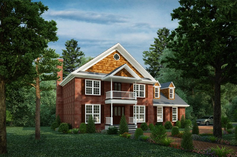 Home Plan - Traditional Exterior - Front Elevation Plan #30-349
