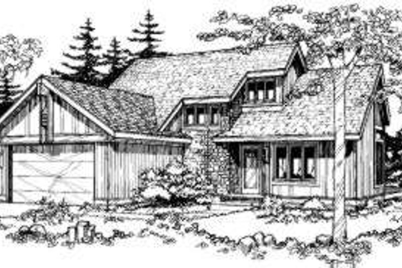House Plan - 2 Beds 2.5 Baths 1498 Sq/Ft Plan #320-133 Exterior - Front Elevation