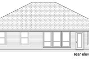 Traditional Style House Plan - 4 Beds 2 Baths 1705 Sq/Ft Plan #84-553 Exterior - Rear Elevation