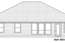 Home Plan - Traditional Exterior - Rear Elevation Plan #84-553