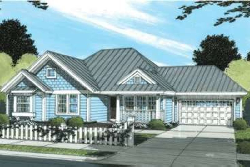 Dream House Plan - Craftsman Exterior - Front Elevation Plan #20-1884