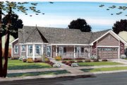 Farmhouse Style House Plan - 3 Beds 2 Baths 1583 Sq/Ft Plan #312-527 Exterior - Front Elevation