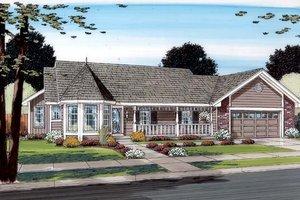Farmhouse Exterior - Front Elevation Plan #312-527