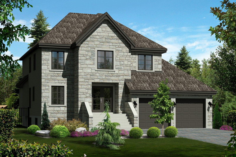 Traditional Style House Plan - 3 Beds 2 Baths 2438 Sq/Ft Plan #25-4486 Exterior - Front Elevation