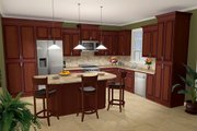 Southern Style House Plan - 3 Beds 2.5 Baths 2000 Sq/Ft Plan #21-218 Photo