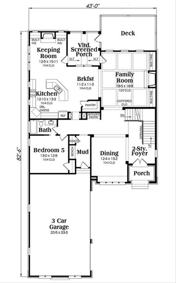 European Floor Plan - Main Floor Plan Plan #419-236