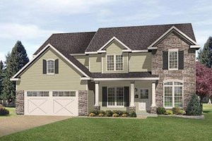 House Design - Traditional Exterior - Front Elevation Plan #22-543