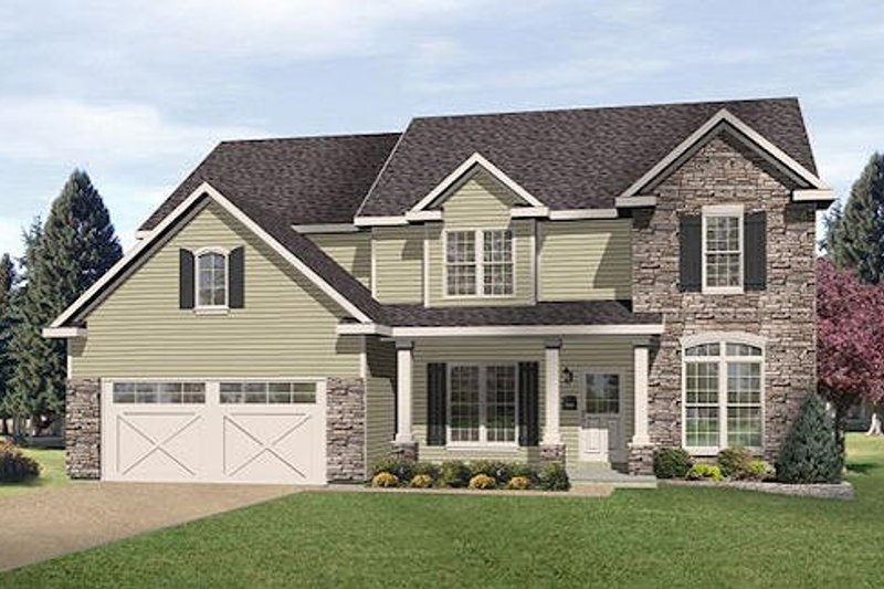 Home Plan - Traditional Exterior - Front Elevation Plan #22-543