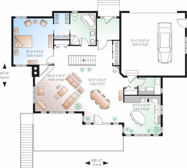 House Plan Design - Traditional Floor Plan - Main Floor Plan #23-850