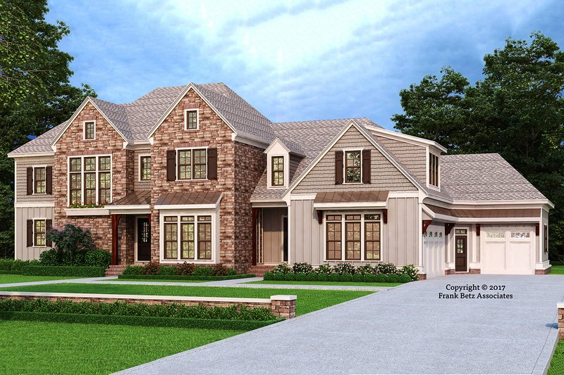 Architectural House Design - Traditional Exterior - Front Elevation Plan #927-993