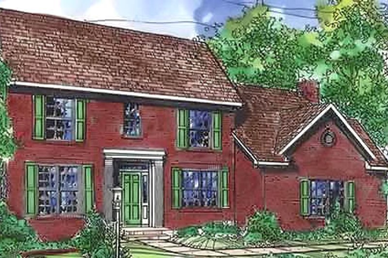 Colonial Exterior - Front Elevation Plan #320-447