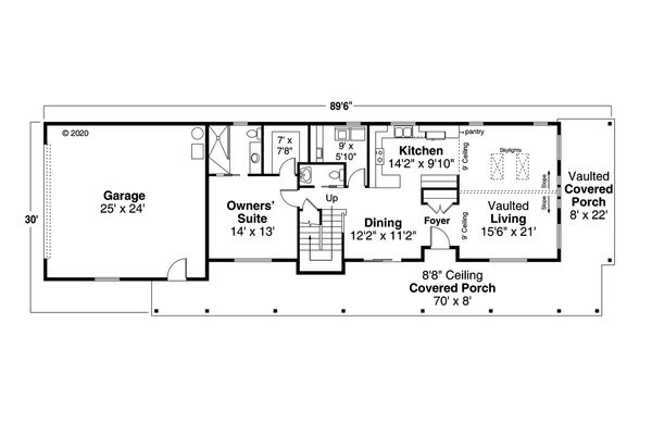 Country Floor Plan - Main Floor Plan Plan #124-1185