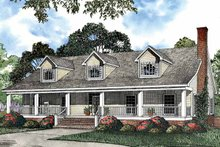 Country Exterior - Front Elevation Plan #17-3068
