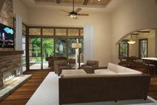 Architectural House Design - Cottage Interior - Family Room Plan #120-244