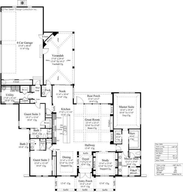 Dream House Plan - Craftsman Floor Plan - Main Floor Plan #930-522