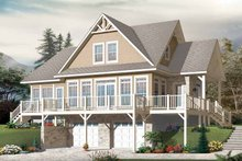 Dream House Plan - European Exterior - Front Elevation Plan #23-2484