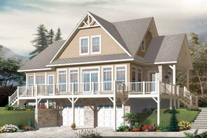 European Exterior - Front Elevation Plan #23-2484