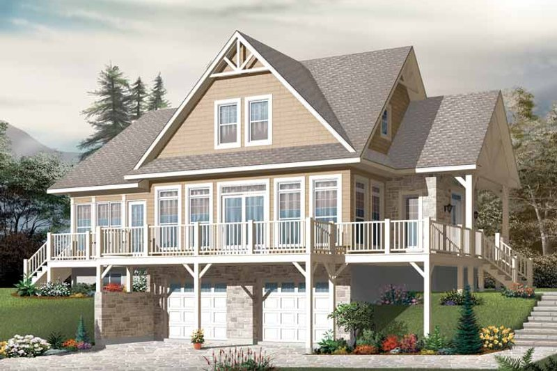 Architectural House Design - European Exterior - Front Elevation Plan #23-2484