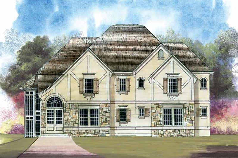 Tudor Exterior - Front Elevation Plan #119-377