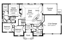 Country Floor Plan - Main Floor Plan Plan #46-821