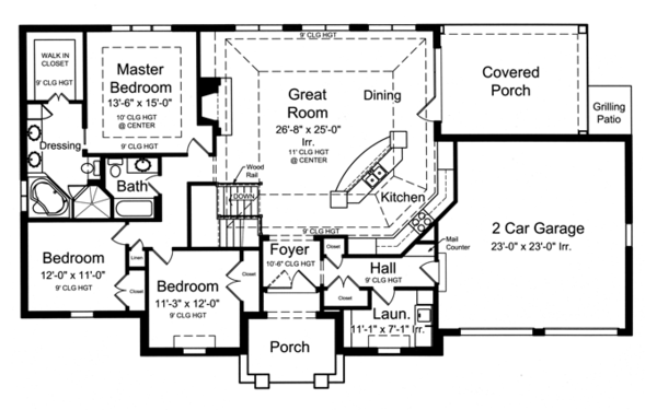 Country Floor Plan - Main Floor Plan Plan #46-821