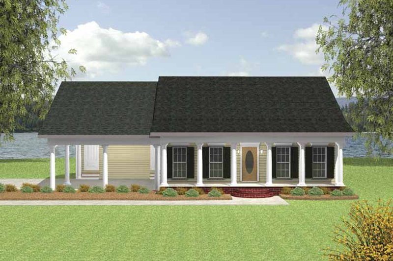 Country Exterior - Front Elevation Plan #44-216