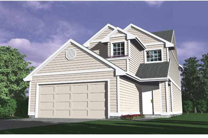 Traditional Exterior - Front Elevation Plan #509-177 - Houseplans.com