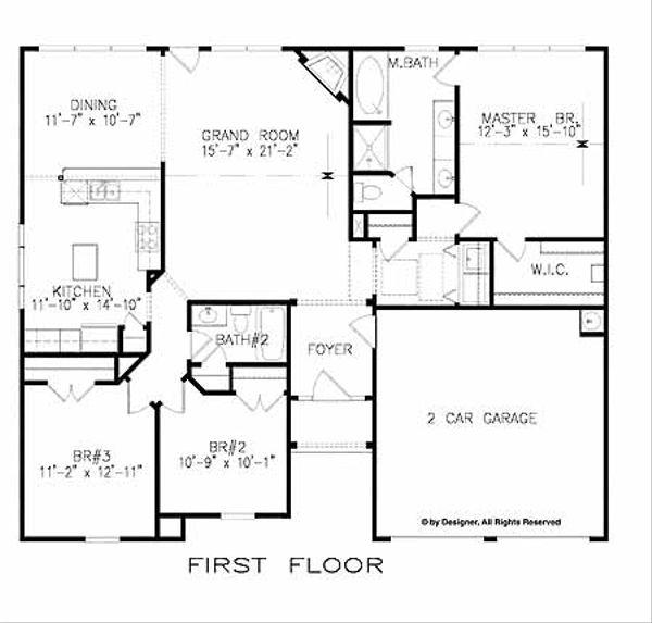 Traditional Floor Plan - Main Floor Plan Plan #52-286