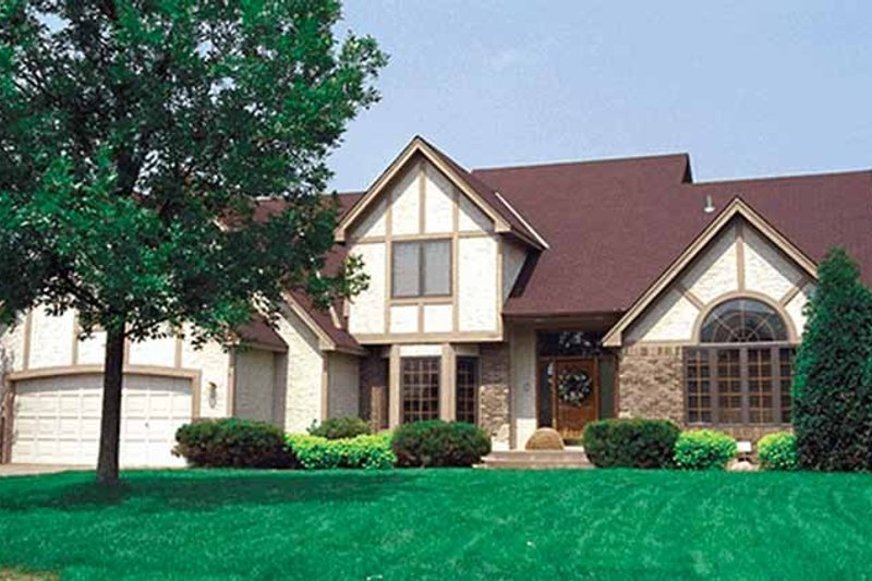 Tudor Exterior - Front Elevation Plan #51-870