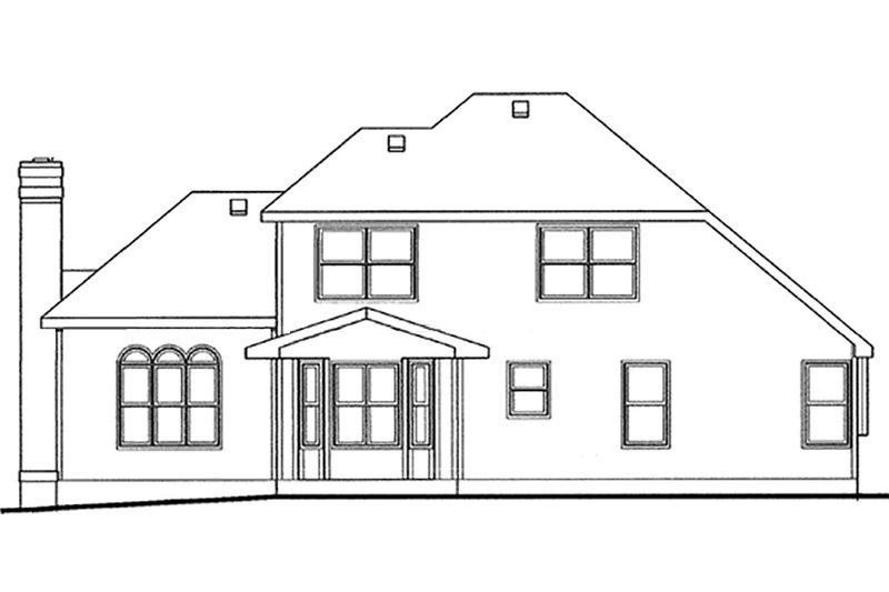 European Exterior - Rear Elevation Plan #20-2023 - Houseplans.com